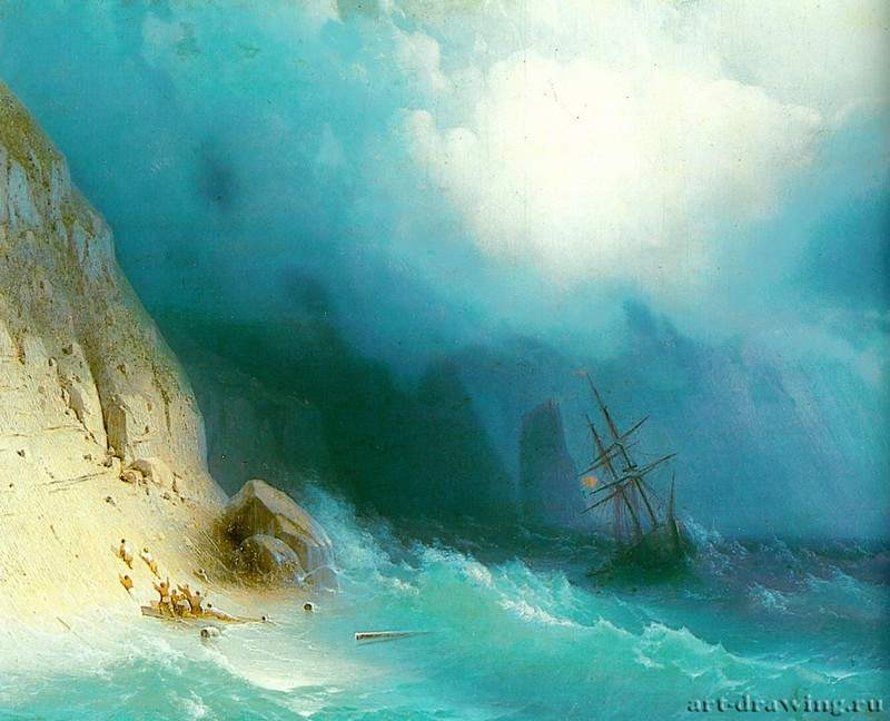 Кораблекрушение. У скал. 1870 * - Shipwreck. We rock. 1870 *